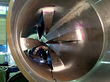 Westfall Low Headloss Pipeline Mixer 3050: Welding Vanes in Place